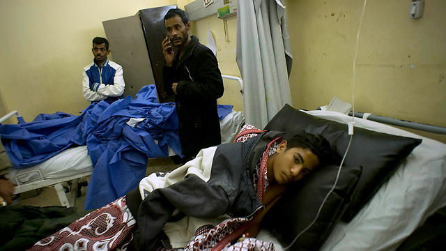 The attack's victims in hospital (Photo: AP)