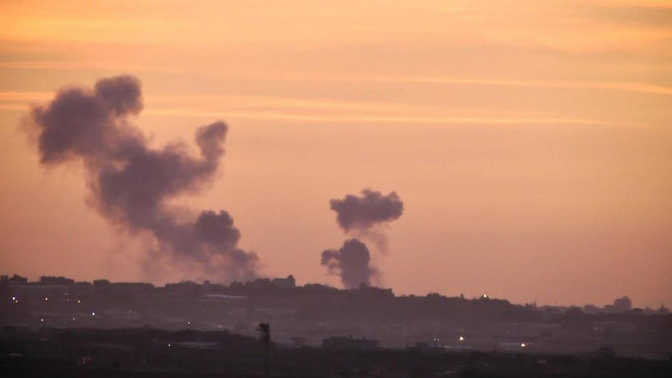IAF jets bomb two targets in central Gaza (Photo: Roee Idan)