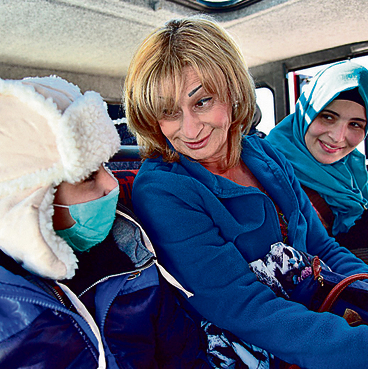 With Palestinian children on a trip to Mount Hermon  (Photo: Ohad Zwigenberg)