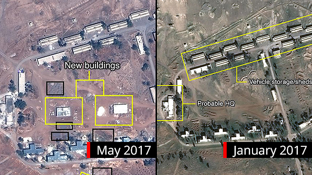 Reported expansion on the Iranian base  (Photo: Digital Globe, McKenze intelligence Services, BBC)