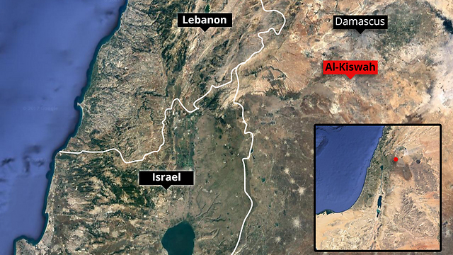 Map showing the location of the reported attack in Syria