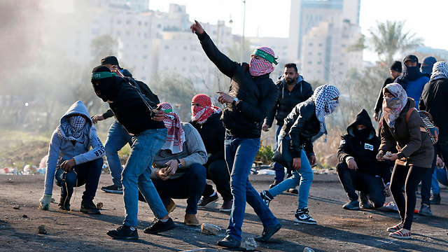 Protests in Ramallah Friday (Photo: AFP)