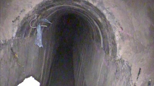The Hamas tunnel uncovered near Kibbutz Nirim  (Photo: IDF Spokesperson's Unit)