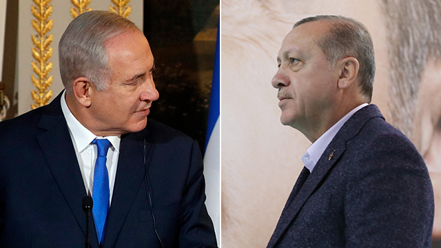 Prime Minister Benjamin Netanyahu (L) and Turkish President Redcep Tayyip Erdogan. Head-to-head  (Photos: EPA, AFP)