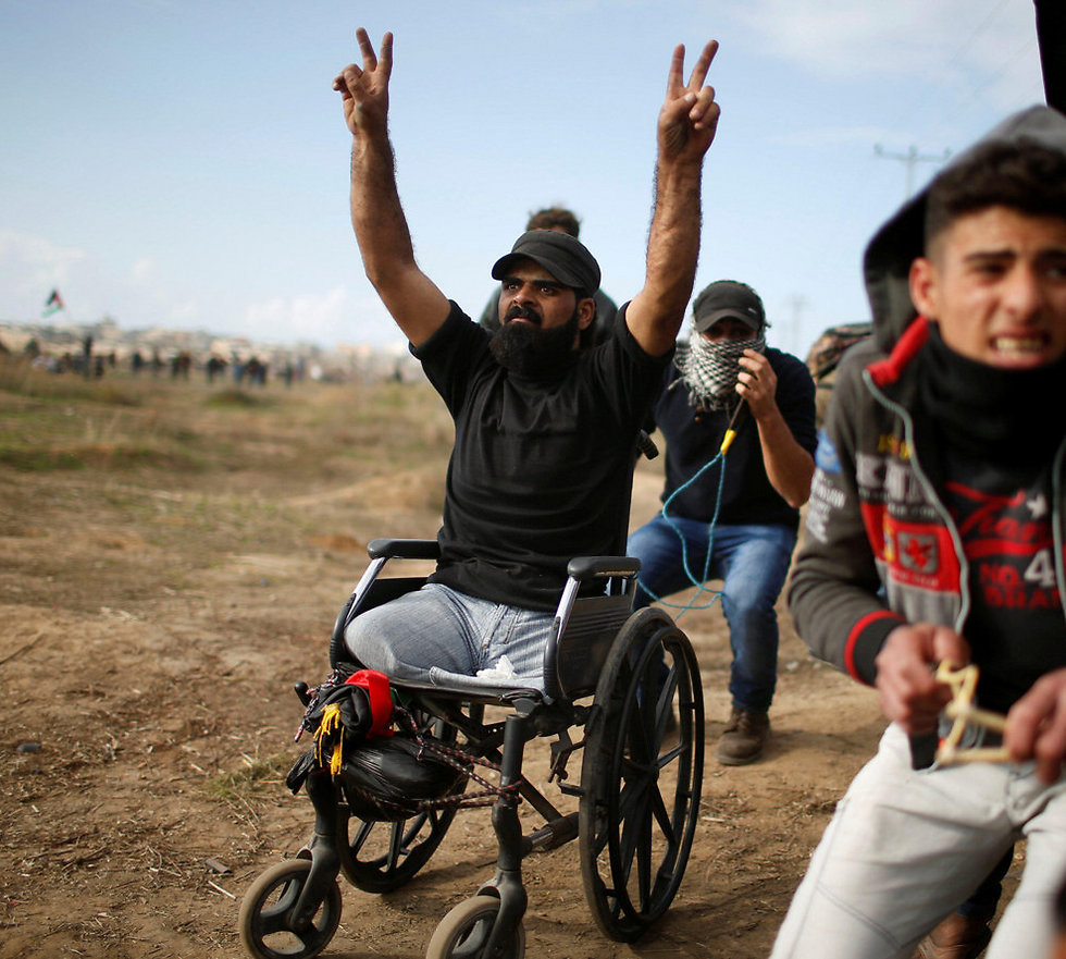The protester who was shot in the head (Photo: Reuters)