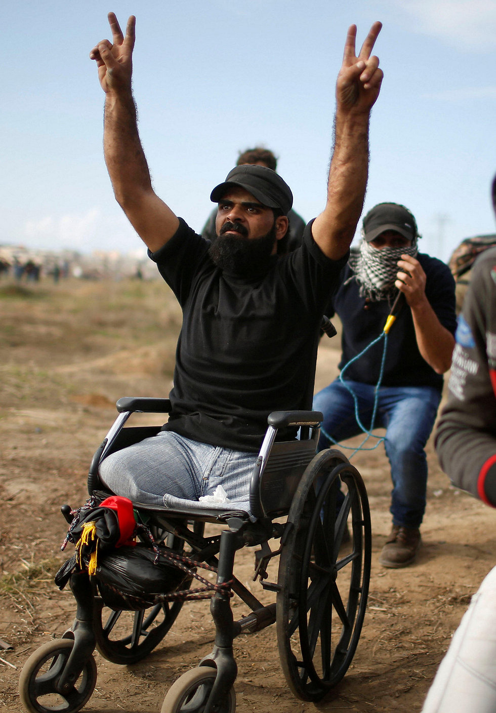 Abu Thuraya during the December 15 riots in Gaza (Photo: Reuters)