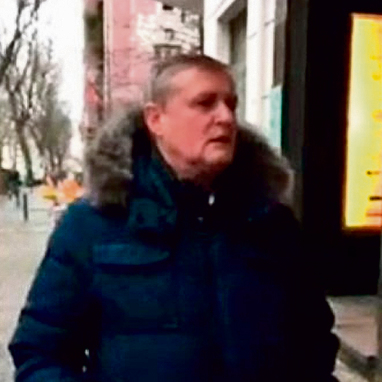 The German man filmed hurling anti-Semitic invectives at Feinberg