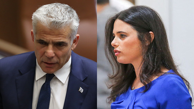 Lapid and Ayelet Shked (Photo: Noam Moskovich)