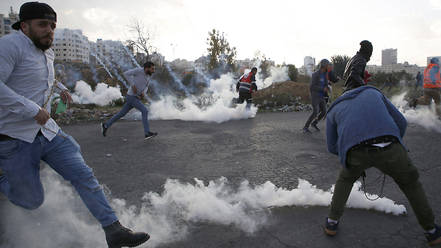 Clashes in Ramallah (Photo: AFP)