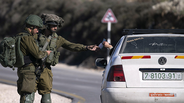 IDF checkpoint in the West Ban (Photo: AFP)
