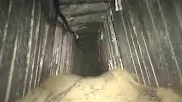 The Hamas tunnel discovered by the IDF (Photo: IDF Spokesperson's Unit)