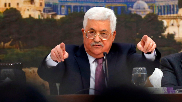 PA President Abbas, at the meeting (צילום: AFP)