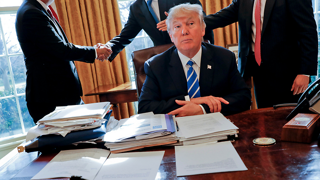 President Trump. A senior US official says the plan will likely be unveiled this year and 'both sides have to be ready for it' (Photo: AP)