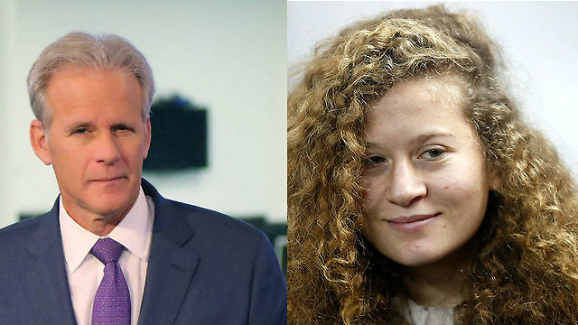 MK Oren (L) believes Ahed Tamimi and her family are actors (Photo: Avi Moalem, EPA)