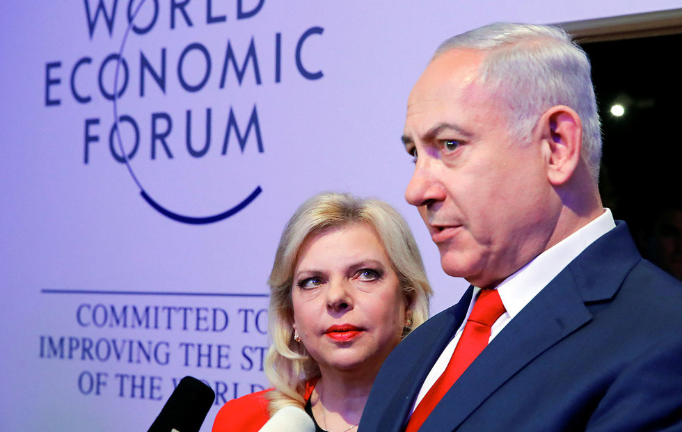 Prime Minister Netanyahu, right, with wife Sara (Photo: Reuters)