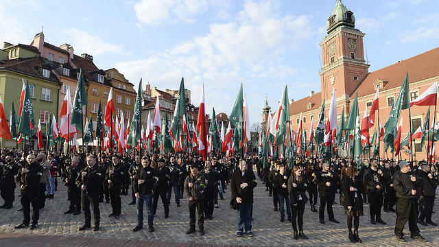 National-Radical Camp, march in Warsaw (Photo: AP)