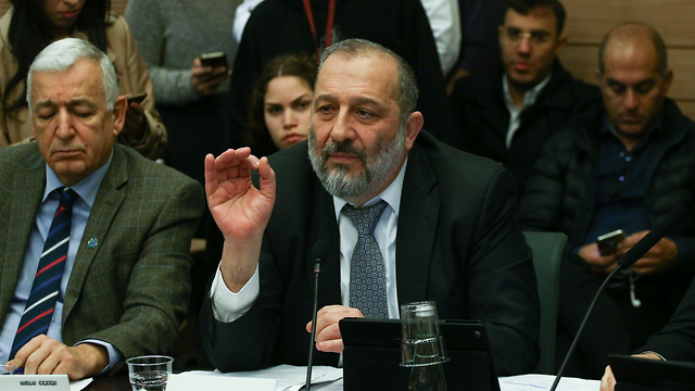 Interior Minister Aryeh Deri. 'If God would come down, I think he would be ashamed of him' (Photo: Ohad Zwigenberg)