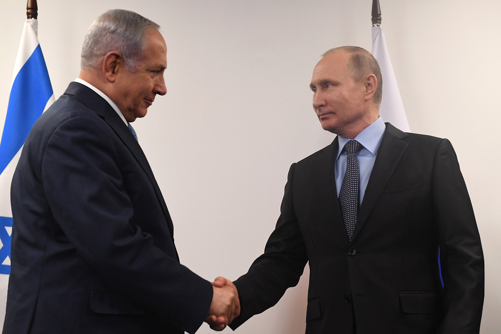 Netanyahu and Putin in Moscow, Monday (Photo: Kobi Gideon/GPO)
