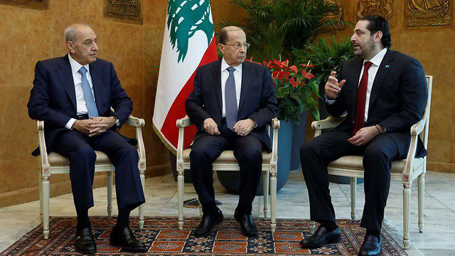 L-R: Parliament Speaker Nabih Berri, President Michel Aoun and Prime Minister Saad Hariri (Photo: Reuters)