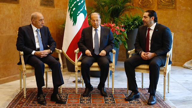 Lebanese president, Prime minister and speaker of parliament (Photo: Reuters)