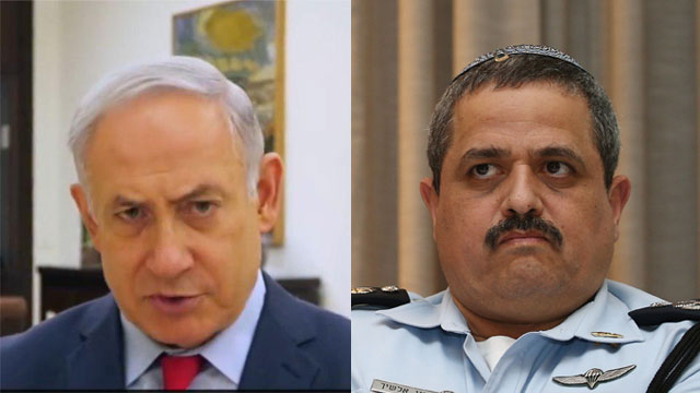 Netanyahu (L) and Alsheikh. 'A major shadow on the investigations against me'  (Photo: Ohad Zwigenberg)