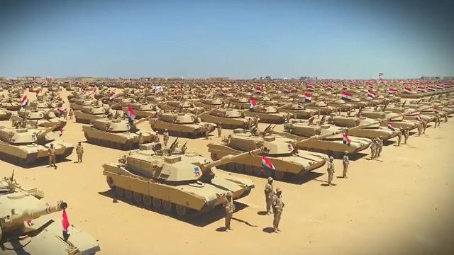 Egyptian military operating in Sinai against ISIS