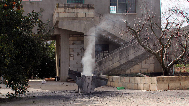 Remains of Syrian antiaircraft missile that landed in southern Lebanon  (Photo: AFP)