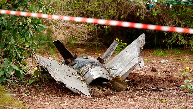 An SA-5 that crashed in Alonei Abba, northern Israel (Photo: AFP)