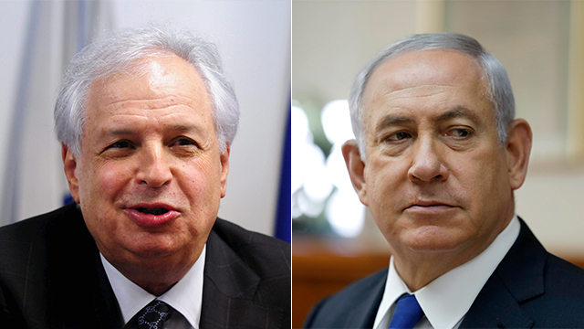 Allegedly illicit ties between Bezeq chief Elovitch (L) and PM Netanyahu were probed by police (Photo: EPA, Yuval Chen)