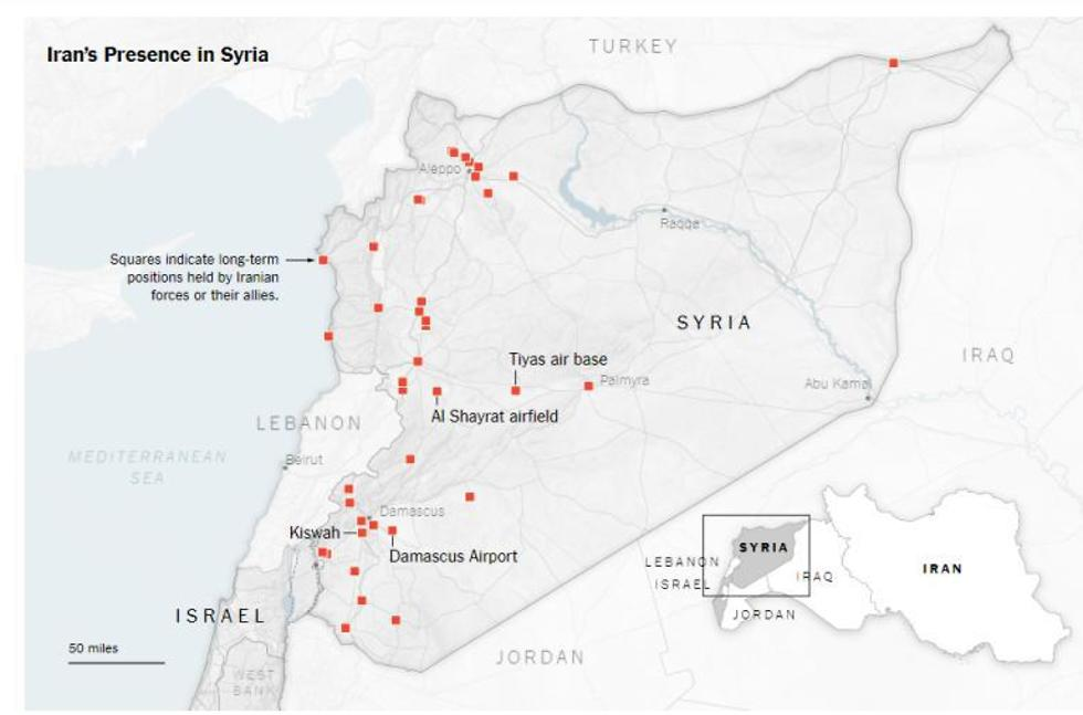 The New York Times' mapping of Iranian presence in Syria