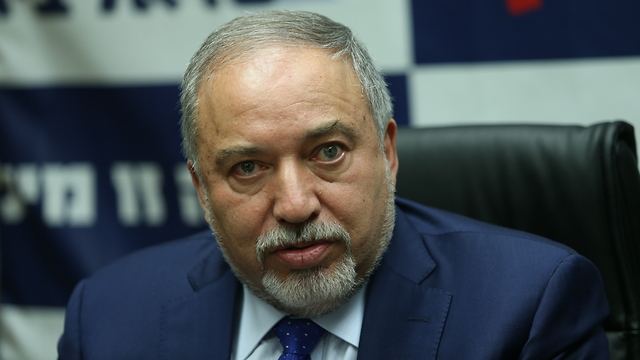 Defense Minister Lieberman voiced his dissatisfaction with the draft bill compromise (Photo: Alex Kolomoisky)