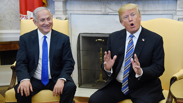 Netanyahu and Trump meet in the Oval Office (צילום: MCT)