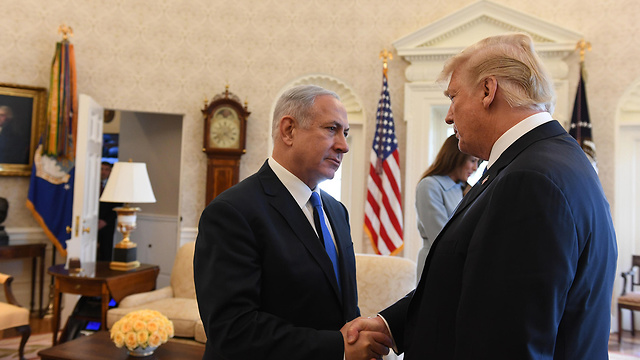 Netanyahu and Trump meet in the Oval Office (Photo: Haim Katz/GPO)