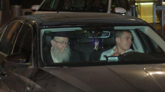 Deputy Health Minister Litzman leaving his meeting with PM Netanyahu (Photo: Hillel Meir/TPS)