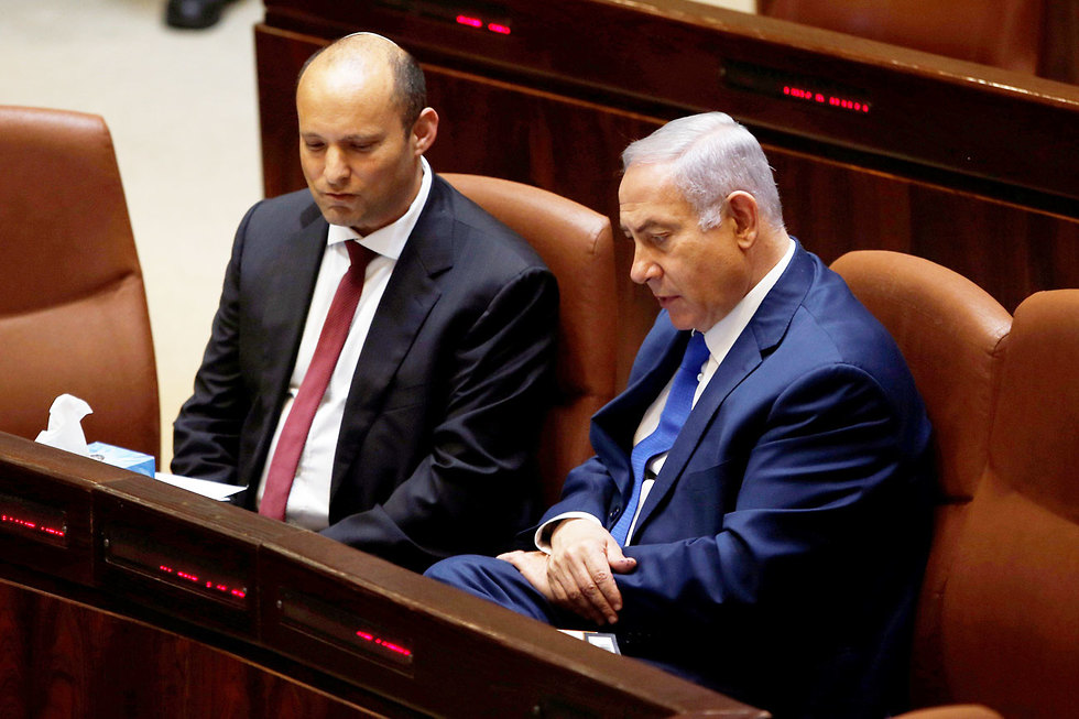 PM Netanyahu and Naftali Bennett (Photo: Reuters)