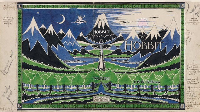 Hobbit Dust Jacket (The Tolkien Estate 1937)