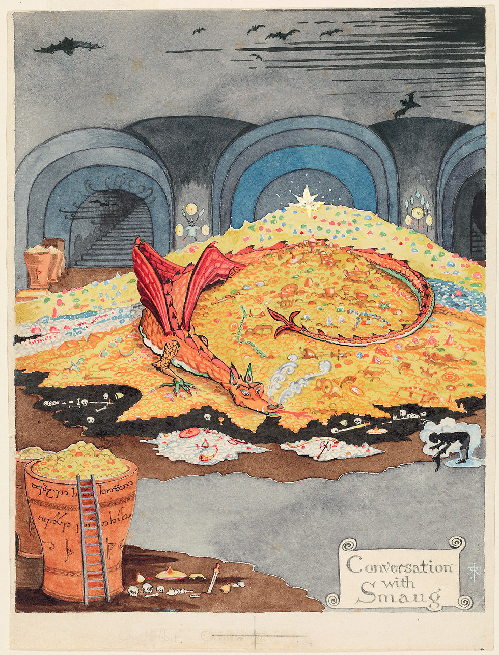 Conversation with Smaug (The Tolkien Estate Limited 1937)
