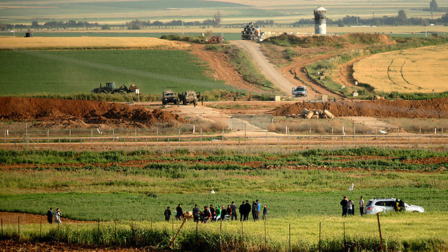 IDF fortifications on border (Photo: AFP)