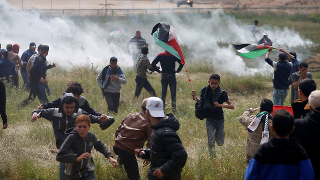 Tear gas used to disperse demonstrators (Photo: Reuters)