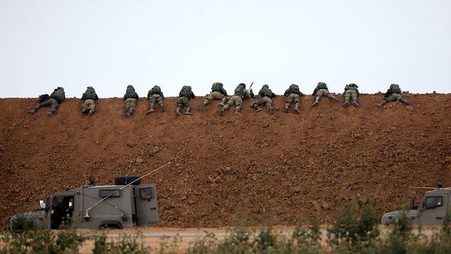 Snipers facing the 'March of Return' on the Gaza border fence  (Photo: Reuters)