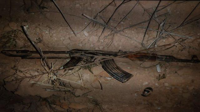 Weapon found on one of the Palestinians who were shot to death  (Photo: IDF Spokesman's Office)