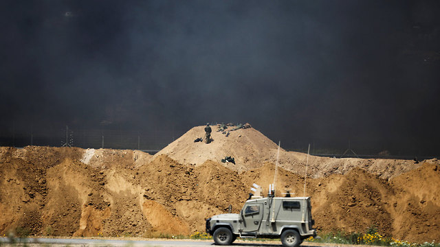 IDF forces at the border (Photo: Reuters)