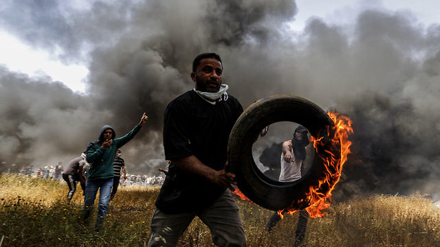 Demonstrations on the Gaza border (Photo: MCT)
