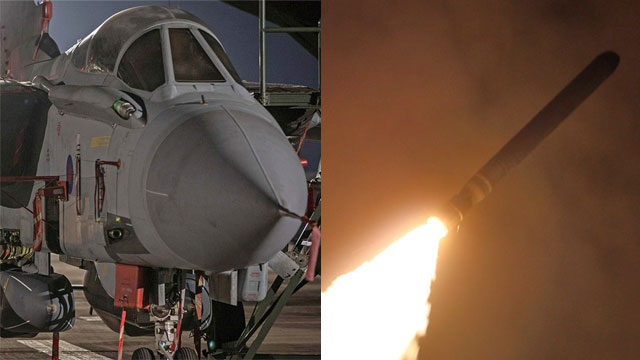 A Western fighter jet and Tomahawk missile used in the attack in Syria (Photo: AP, AFP)