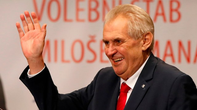 Czech President Zeman spoke out on Israel's behalf on numerous occasions (Photo: AP)