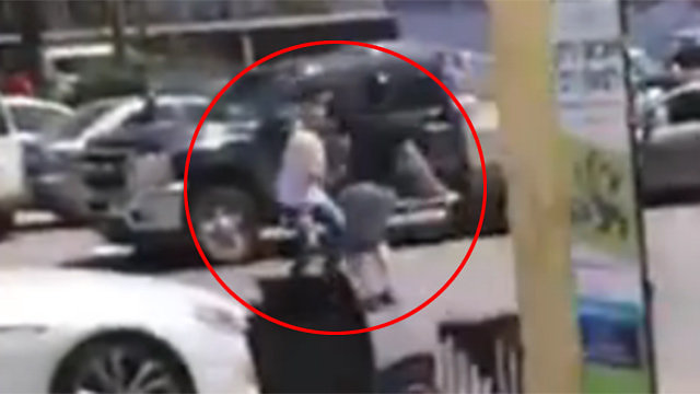 The moment of stabbing as captured in the video footage