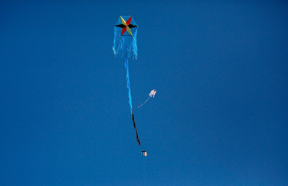 Kite attached with burning rag (Photo: AFP)