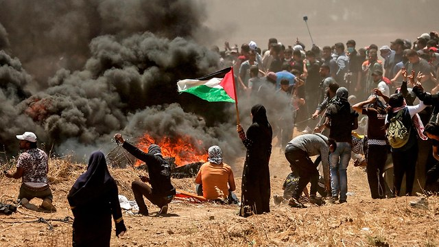 Nakba Day protests in the Gaza Strip (Photo: AFP)