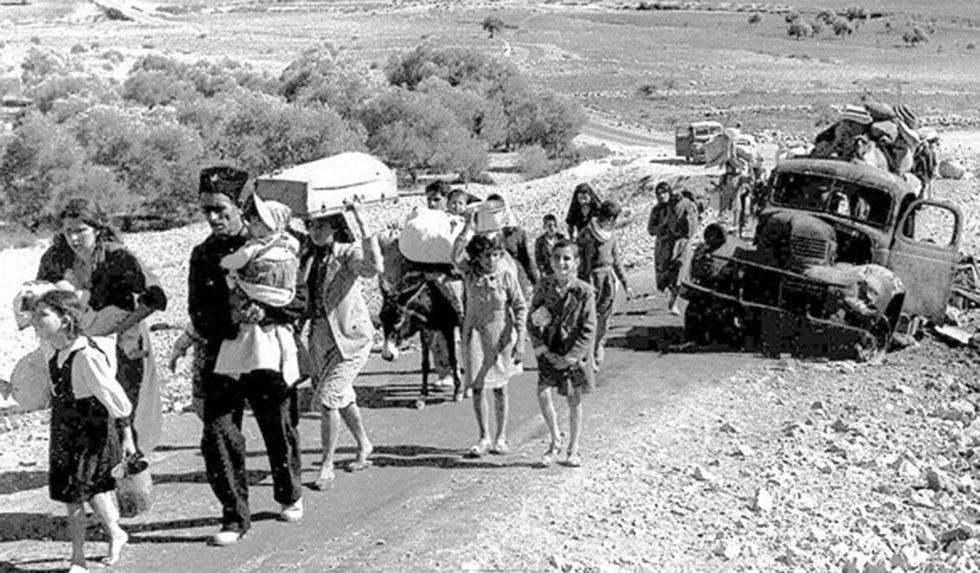 Arab refugees in the Galilee, 1948 (Photo: Fred Csasznik)