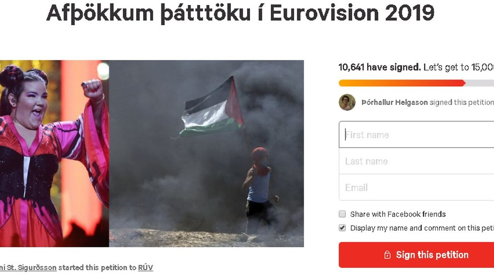 Online petition against holding next year's Eurovision in Israel